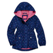 Pink Platinum Heart Hooded Anorak Coat - Girls 7-16