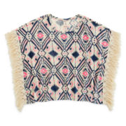 Arizona Fringed Poncho Top - Girls 7-16 and Plus