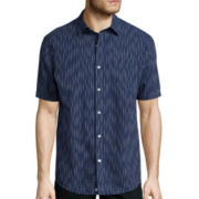 Claiborne® Weekend Casual Short-Sleeve Woven Shirt- Big & Tall