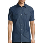 Claiborne® Short-Sleeve Chambray Shirt