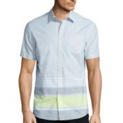 Claiborne® Short-Sleeve Chambray Woven Shirt