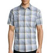 Claiborne® Short Sleeve Plaid Woven Shirt
