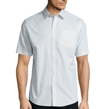 jcpenney.com | Claiborne® Short-Sleeve Printed Woven Shirt