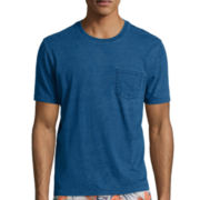 St. John's Bay® Authentic Indigo Dyed Pocket Tee