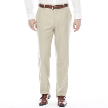 jcpenney.com | Stafford® Travel Sharkskin Flat-Front Suit Pants - Classic Fit