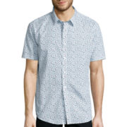 No Retreat Short-Sleeve Button-Front Shirt