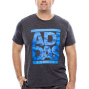 adidas® Logo Split Sport Short-Sleeve Camo T-Shirt- Big & Tall