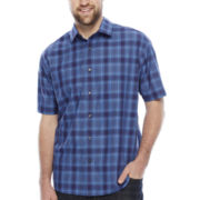 Claiborne® Short-Sleeve Woven Shirt - Big & Tall
