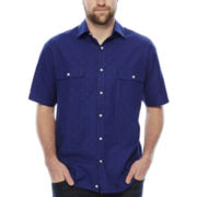 Claiborne® Short-Sleeve Woven Shirt - Big & Tall