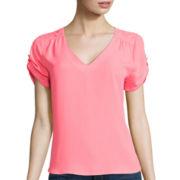 Lily Star Short-Sleeve Woven T-Shirt