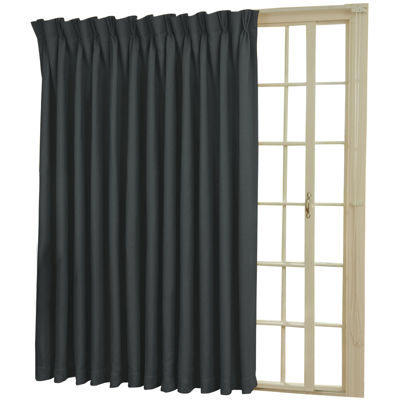 Eclipse Back Tab Pinch Pleat Thermal Blackout Patio Door Curtain Panel
