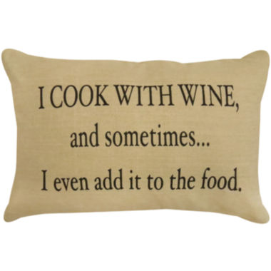 jcpenney.com | Park B. Smith® I Cook With Wine Decorative Pillow