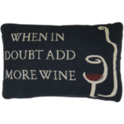 Park B. Smith® When in Doubt Add Wine Decorative Pillow