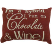 Park B. Smith® I Run On Chocolate and Wine Decorative Pillow