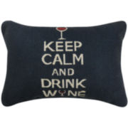 Park B. Smith® Keep Calm and Drink Wine Decorative Pillow
