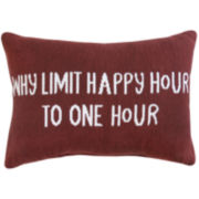 Park B. Smith® Why Limit Happy Hour to One Hour Decorative Pillow