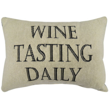 jcpenney.com | Park B. Smith® Wine Tasting Daily Large Decorative Pillow