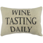 Park B. Smith® Wine Tasting Daily Large Decorative Pillow