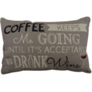 Park B. Smith® Coffee Keeps Me Going Decorative Pillow