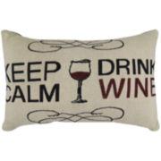 Park B. Smith® Keep Calm Glass Drink Wine Decorative Pillow