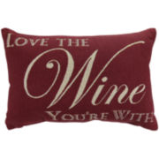 Park B. Smith® Love the Wine You're with Tapestry Decorative Pillow
