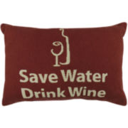 Park B. Smith® Save Water Drink Wine Decorative Pillow