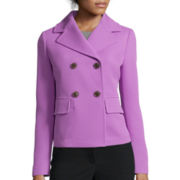Liz Claiborne® Double-Breasted Jacket