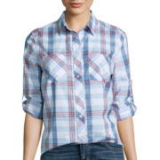 Levi's® 3/4-Sleeve Plaid Boyfriend Shirt