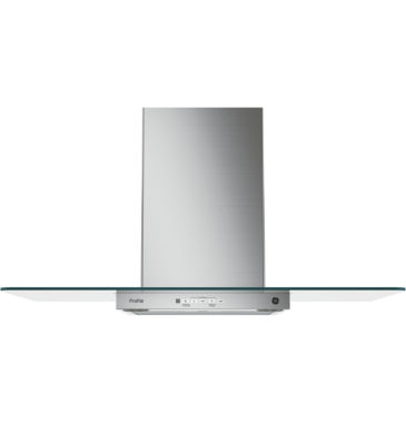 "jcpenney.com | GE Profile™  36"" Wall-Mount Chimney Range Hood With Glass Canopy"