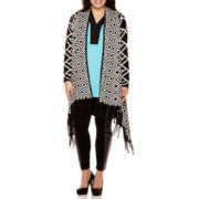 Bisou Bisou® Fringe Cardigan, Tunic Top or Ponte Leggings - Plus