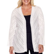 Alfred Dunner® Pointelle Cardigan Sweater - Plus