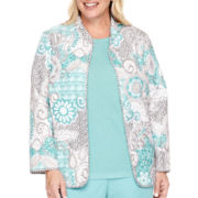 Alfred Dunner® Crystal Springs Batik Reversible Patchwork Quilted Jacket - Plus