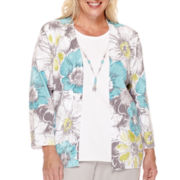Alfred Dunner® Crystal Springs Floral Layered Sweater - Plus