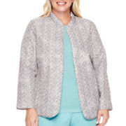Alfred Dunner® Crystal Springs Textured Sweater Shell - Plus