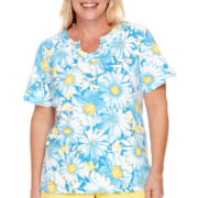 Alfred Dunner® Weekend Getaway Short-Sleeve Floral T-Shirt