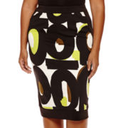 Worthington® Printed and Blocked Pencil Skirt - Plus