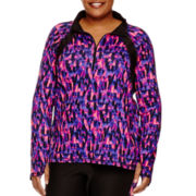 Xersion™ Long-Sleeve Half-Zip All-Over Print Shirt - Plus