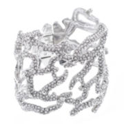 KJL by KENNETH JAY LANE Crystal Coral Reef Branch Cuff Bracelet