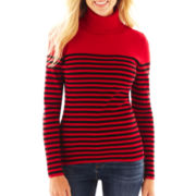 Liz Claiborne Long-Sleeve Ribbed Turtleneck Sweater