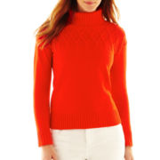 Liz Claiborne Long-Sleeve Turtleneck Sweater