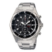 Casio® Mens Stainless Steel Chronograph Watch