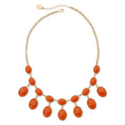 Liz Claiborne® Coral Stone Gold-Tone Shower Necklace