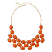 Liz Claiborne® Coral Stone Gold-Tone Drama Necklace