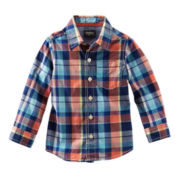 OshKosh B'gosh® Long-Sleeve Plaid Poplin Shirt – Boys 4-7