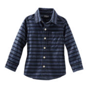 OshKosh B'gosh® Long-Sleeve Striped Chambray Shirt – Boys 4-7