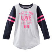 OshKosh B'gosh® Long-Sleeve Varsity Graphic Tee – Girls 4-6x