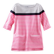 OshKosh B'gosh® 3/4-Sleeve Striped Tunic – Girls 4-6x