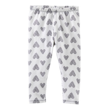 jcpenney.com | OshKosh B'gosh® Heart-Print Leggings - Girls 4-6x