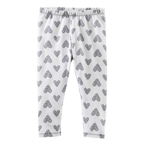 OshKosh B'gosh® Heart-Print Leggings - Girls 4-6x