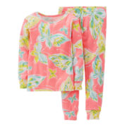 Carter's® 2-pc. Long-Sleeve Butterfly Pajama Set - Girls 4-7